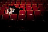 wedding couple in theatre