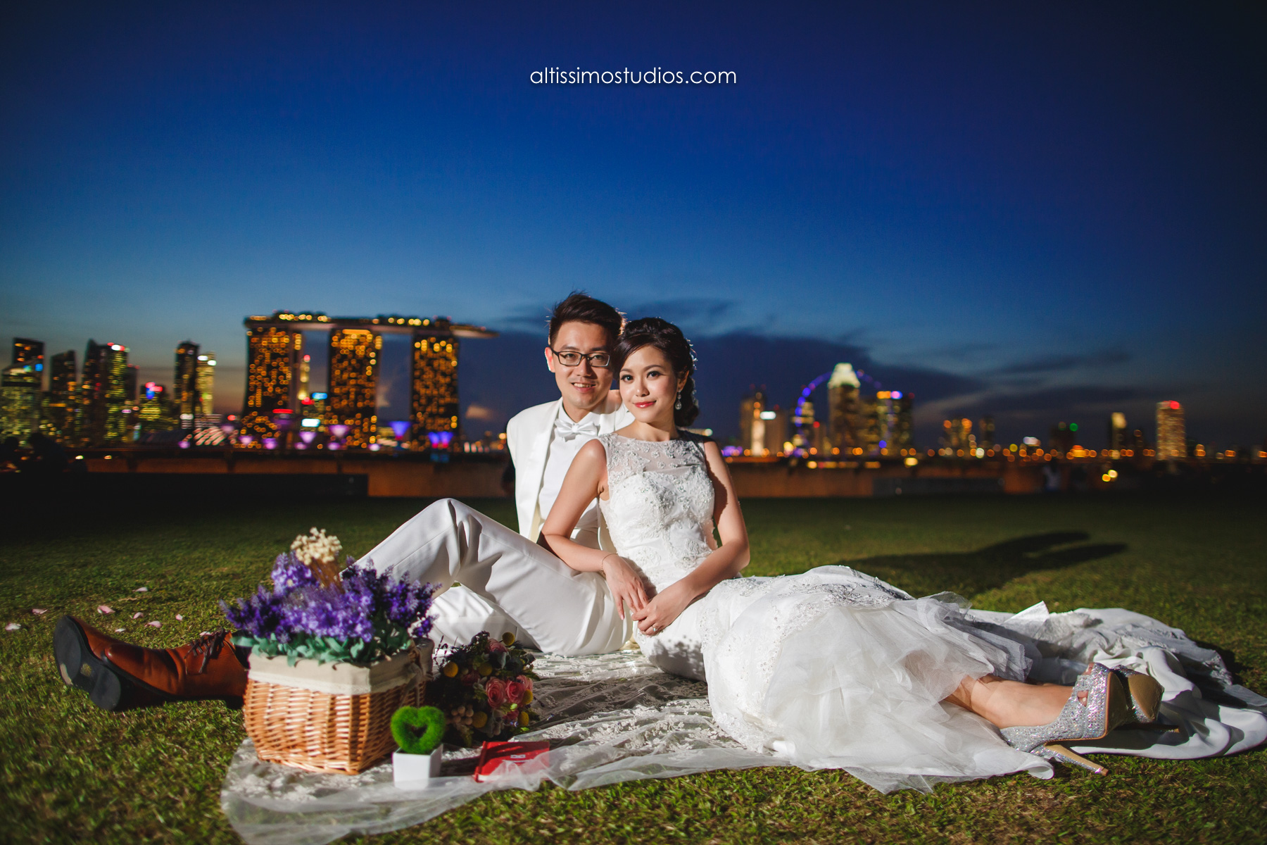 wedding shoot at marina barrage
